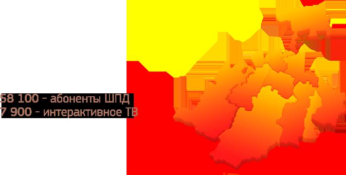 Схематическая карта Северной Осетии